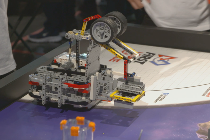 Three Georgia teams compete in the FIRST LEGO League international competition.