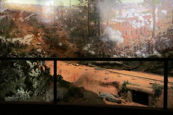 After restoration, the Battle of Atlanta cyclorama painting is set to reopen to the pulblic in February at the Atlanta History Center.