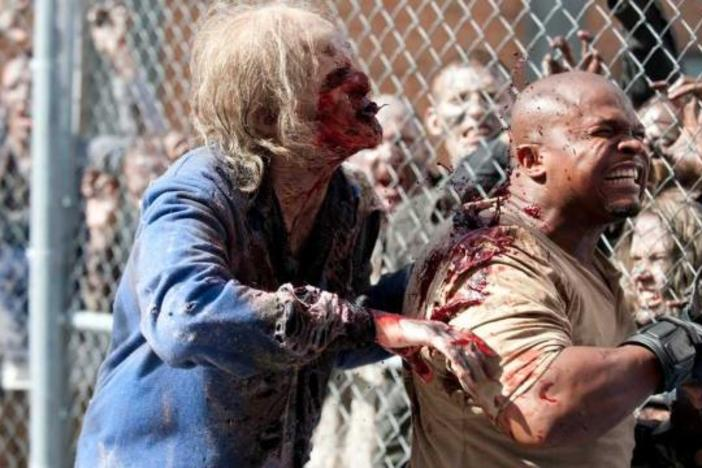 Actor IronE Singleton played T-Dog on The Walking Dead until his character was eaten by blood-thirty zombies.