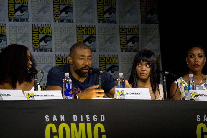 "The cast and crew of the CW show ""Black Lightning"""