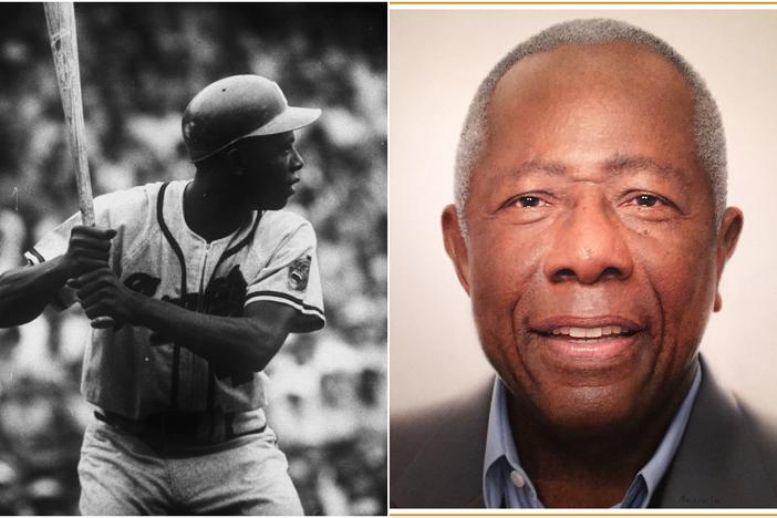 "Henry Louis ""Hank"" Aaron (born February 1934), nicknamed ""Hammer,"" or ""Hammerin' Hank,"" is a retired American Major League Baseball (MLB) right fielder. He played 21 seasons for the Milwaukee/Atlanta Braves in the National League."