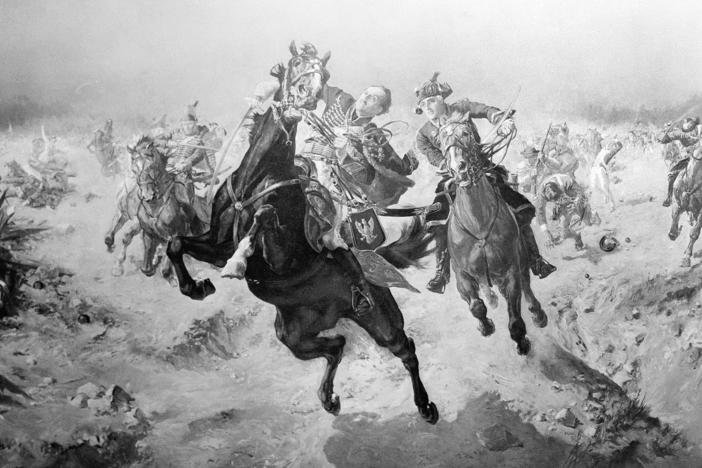 Casimir Pulaski, Polish hero, is mortally wounded while leading French and American Cavalry forces during the siege of Savannah, Ga. in 1779.