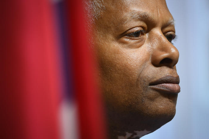 U.S. Rep. Hank Johnson, D-Ga., listens to constituents during a town hall meeting Tuesday, August 13, 2019, at a senior center in Lithonia, Georgia.