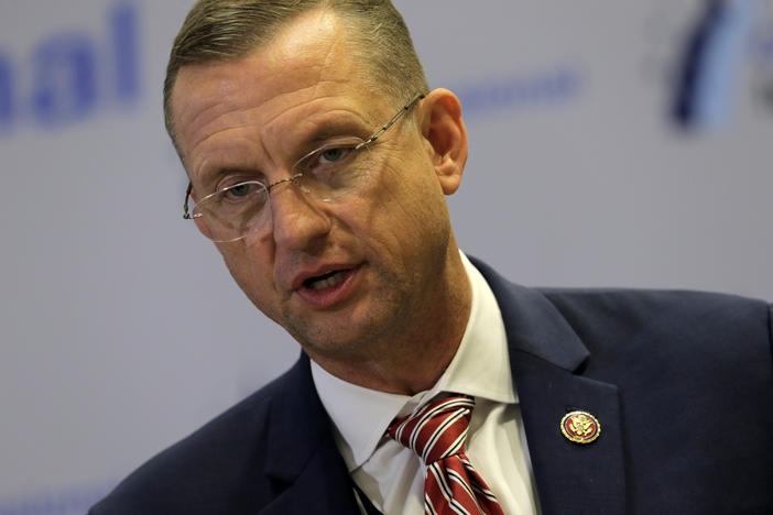 Rep. Doug Collins R-Ga., speaks on a news conference during the House Republican members conference in Baltimore, Thursday, Sept. 12, 2019.