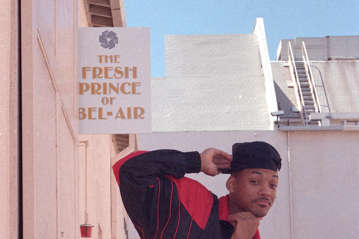 "Actor and rap star Will Smith poses on the set of ""The Fresh Prince of Bel-Air"" in Los Angeles, Calif., on Oct. 15, 1990."