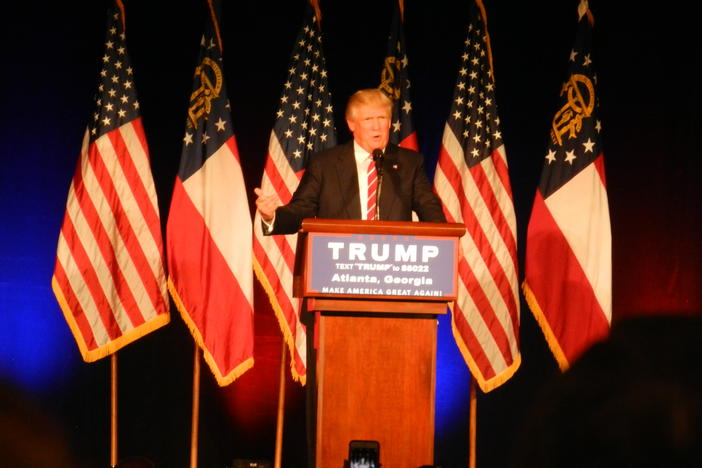 Donald Trump at the Fox Theatre on June 16, 2016.