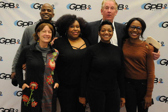 Host Kalena Boller poses with the panel at Georgia Public Broadcasting on Saturday, Feb. 23, 2019.