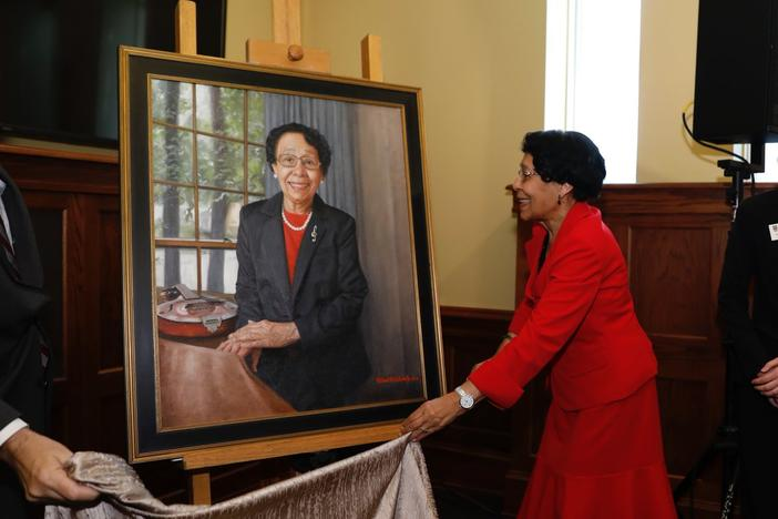 Mary Frances Early was honored with an official UGA portrait in 2018. Now, the university has proposed naming its College of Education after her.