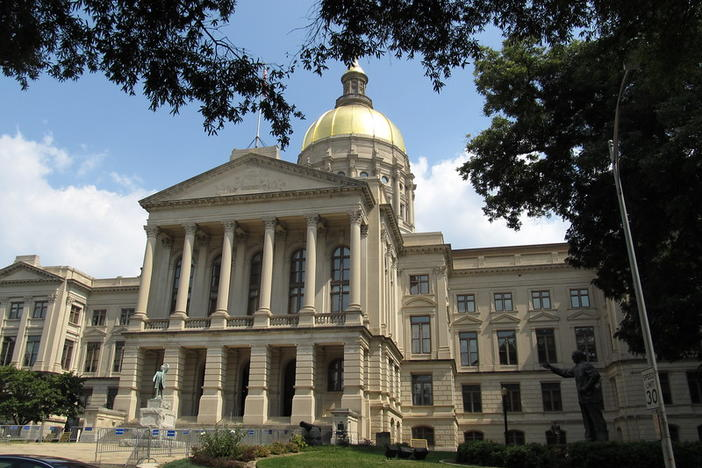 The Georgia State Capitol where legislators and state agency officaisl are working to accomodate budget cuts proposed by Gov. Brian Kemp last Summer.