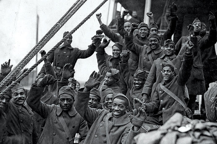The 369th infantry was the first African-American regiment to serve with the American Expeditionary Forces in World War I.