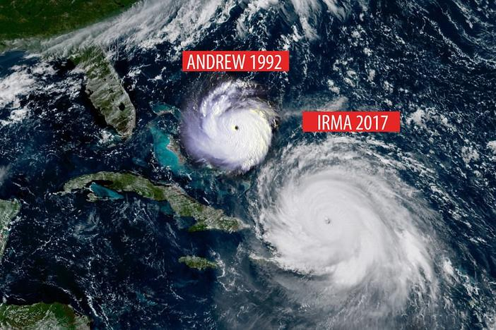 Hurricanes Irma and Andrew