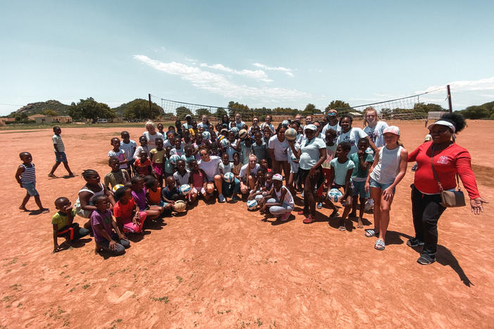 The A5 Volleyball Club of Alpharetta visited rural villages of Botswana in Nov. 2019.