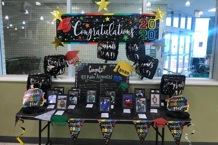 Publix grocery store in Macon celebrates their workers who are graduating this year.