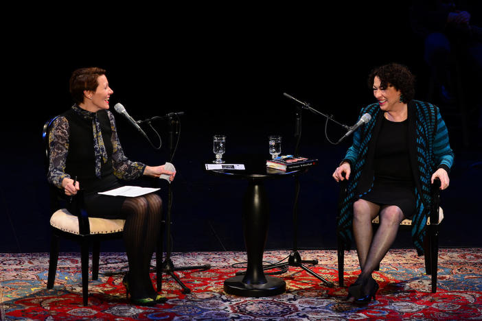 Virginia Prescott and Justice Sotomayor at Writer's on a New England Stage on Feb. 5th, 2014.