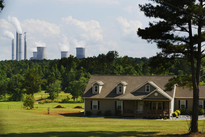 A home within the groundwater footprint of Georgia Power's Plant Scherer in 2014.