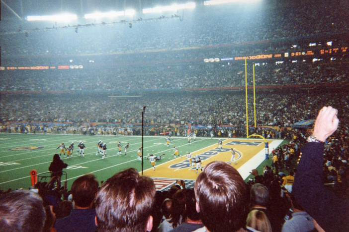 A shot inside the Georgia Dome, where the St. Louis Rams defeated the Tennessee Titans in 2000.