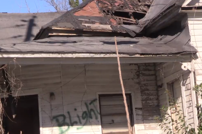 Blight can be seen throughout Macon-Bibb County, where nearly 4,000 properties are vacant or abandoned.