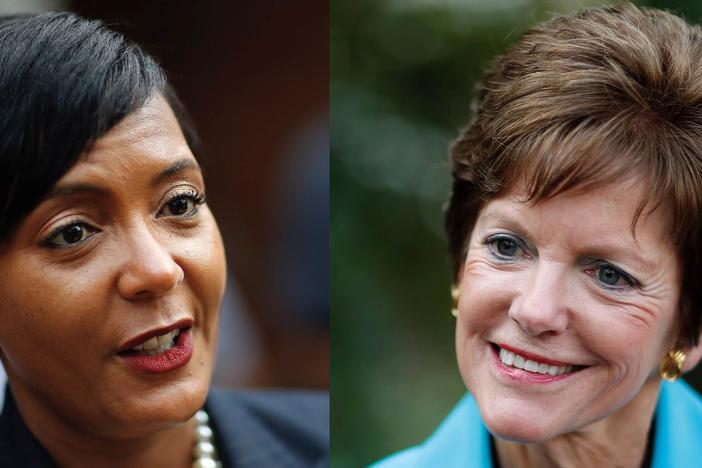 Keshia Lance Bottoms (left) and Mary Norwood (right) will face each other in a runoff election to determine the next mayor of Atlanta on December 5.