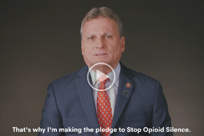 "A screenshot of Rep. Buddy Carter (R-Pooler) from his video for the ""Stop Opioid Silence"" campaign on Facebook with the Partnership for Drug Free Kids."
