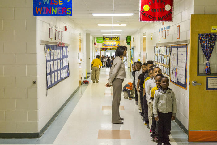 Burdell Elementary School in Macon is on the state's Most Improved list.