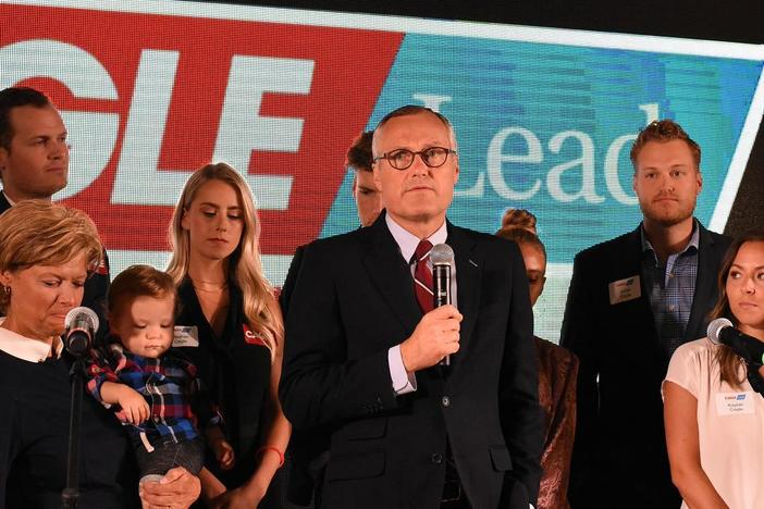 Lt. Governor Casey Cagle addresses supporters during a concession speech Tuesday, July 24, 2018.