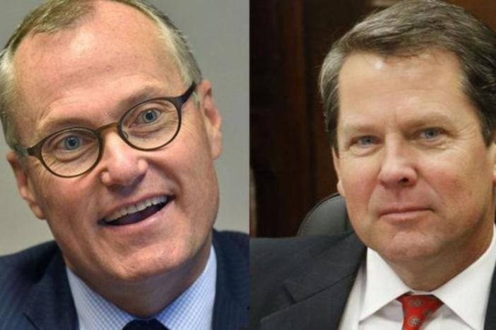 Lt. Gov. Casey Cagle (left) and Secretary of State Brian Kemp traded jabs ahead of the July 24 runoff.