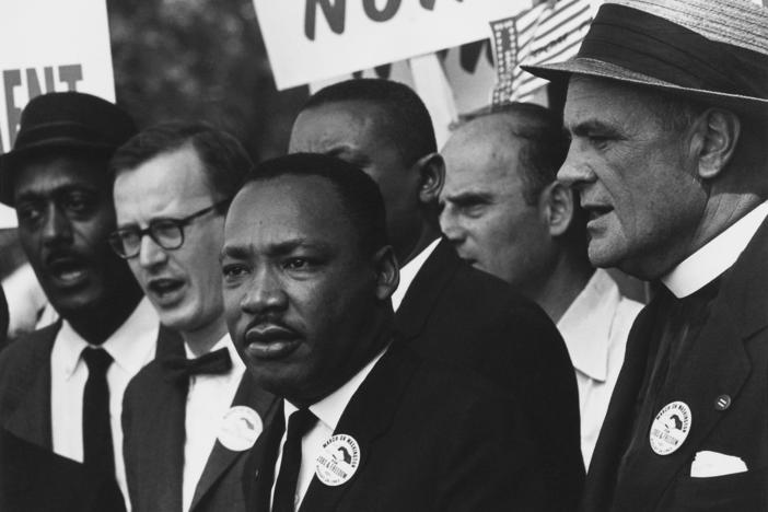 King at the 1963 March on Washington.