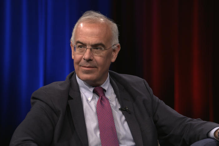 Author and New York Times Columnist David Brooks speaking with Bill Nigut about his new book 'The Second Mountain.'