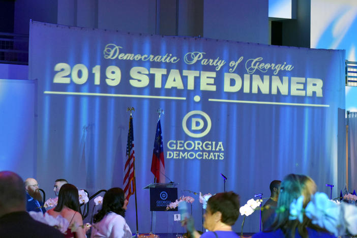 The annual 2019 state dinner of the Democratic Party of Georgia on Oct. 23, 2019, had prominent Democrat Stacey Abrams as a speaker.