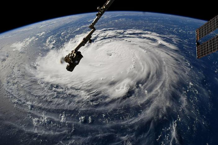 Astronaut Ricky Arnold, from aboard the International Space Station, shared this image of Hurricane Florence on Sept. 10, taken as the orbiting laboratory flew over the massive storm.