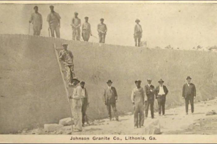 Workers at a granite quarry in Lithonia, Ga.