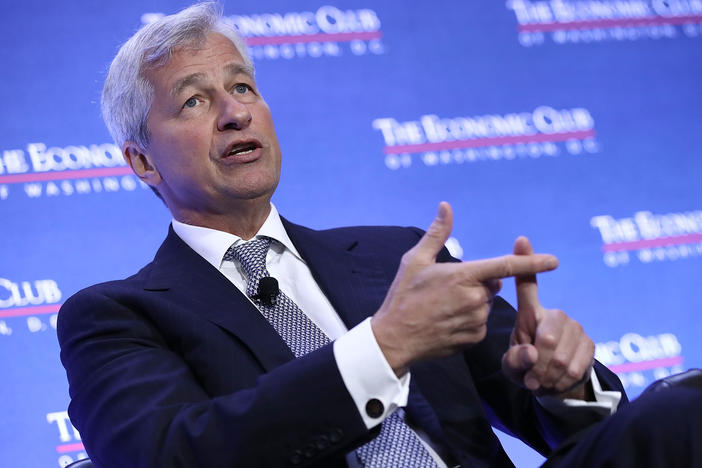 """We still face much uncertainty regarding the future path of the economy,"" JPMorgan Chase CEO Jamie Dimon said Tuesday in a statement accompanying the giant bank's financial results."