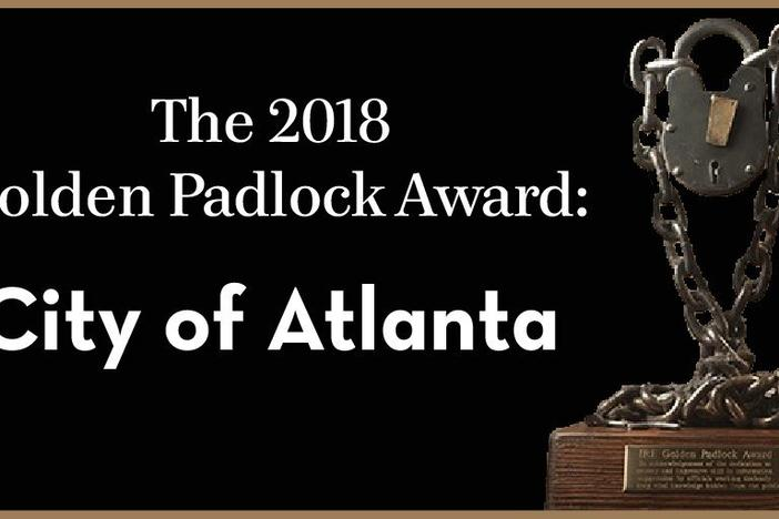The City of Atlanta and its official are the only repeat nominees for IRE's Golden Padlock Award.