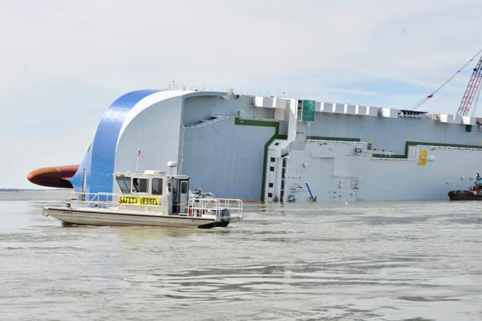 "The capsized ship Golden Ray, which has released oil into the surrounding waterways, made the Georgia Water Coalition's ""Dirty Dozen"" list of pollution threats."