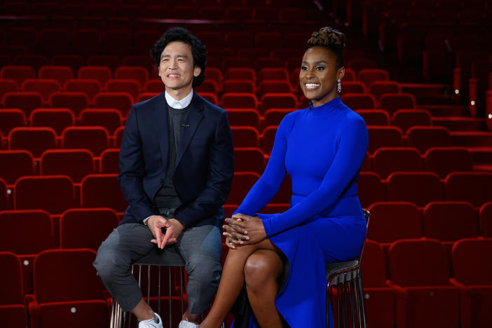 John Cho and Issa Rae announce the nominees for the 92nd Annual Academy Awards in Beverly Hills, on Monday, January 13, 2020.