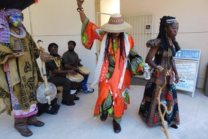 Savannah residents celebrate Juneteenth at Telfair Museums in 2017.
