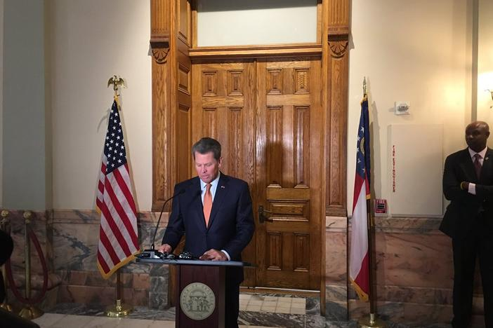 Gov. Brian Kemp announces John King will serve as the Georgia Insurance Commissioner during the suspension of Jim Beck who faces charges of federal fraud.