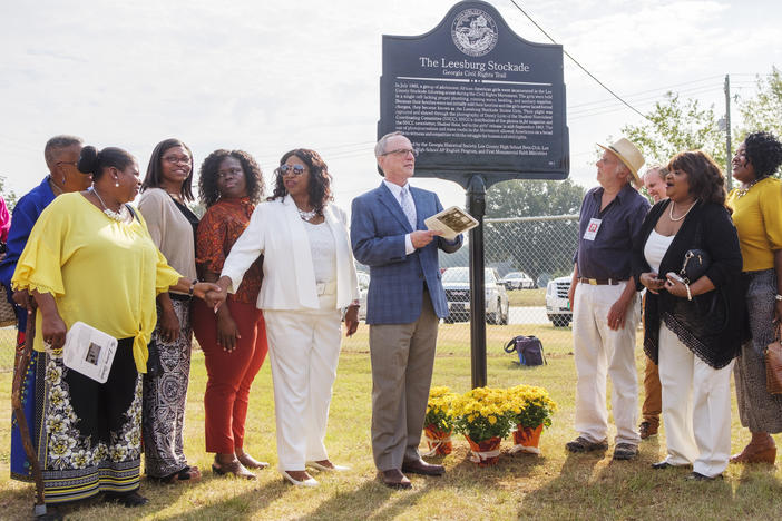 "The wraps come off the marker for the ""Girls Of The Leesburg Stockade"" in Lee County in September."