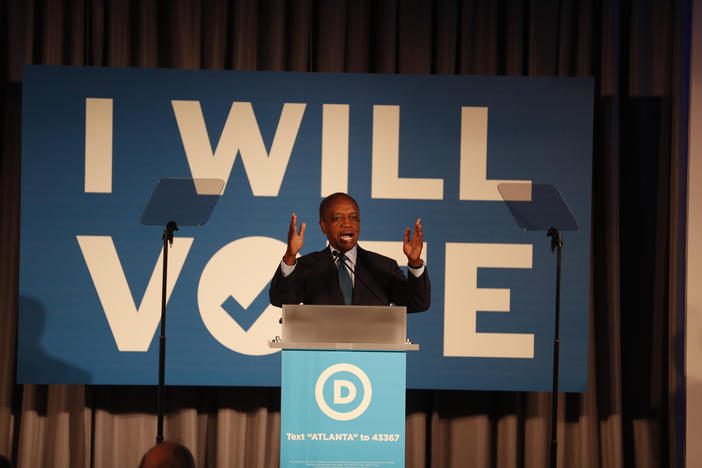 Dekalb County CEO Michael Thurmond speaks during the I Will Vote Fundraising Gala Thursday, June 6, 2019, in Atlanta.
