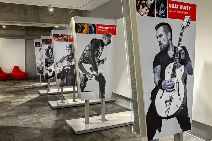 """Wire & Wood: Designing Iconic Guitars"" will be on display at the Museum of Design Atlanta (MODA) until September 29."