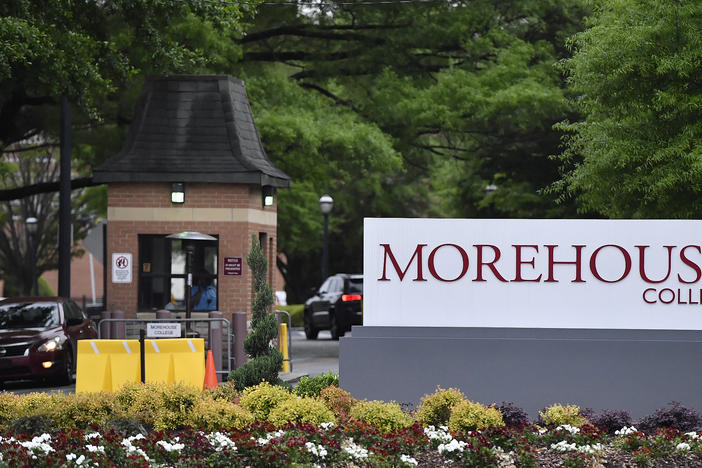 The campus of Morehouse College in Atlanta. The college announced it will furlough employees and cut jobs and salaries to offset the impacts of COVID-19.