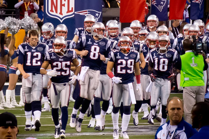 The New England Patriots enter Super Bowl 48 at Lucas Oil Stadium.
