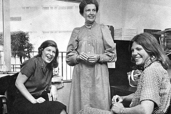 Nina Totenberg, Linda Wertheimer and Cokie Roberts, photographed around 1979, were among the prominent female voices on NPR in its early years.