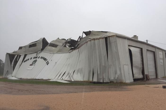Damage to Farmers Gin and Peanut Company in Moultrie, Georgia