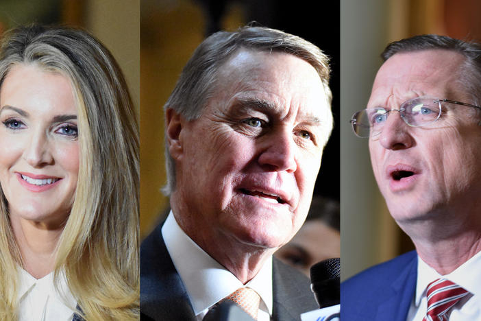 Sen. Kelly Loeffler, Sen. David Perdue and Rep. Doug Collins qualified to run for U.S. Senate Monday, March 2, 2020.
