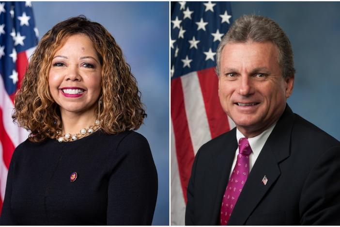 Democratic Rep. Lucy McBath, D-Marietta, was elected in 2016. Republican Rep. Earl 'Buddy' Carter, R-Pooler, was elected in 2014.