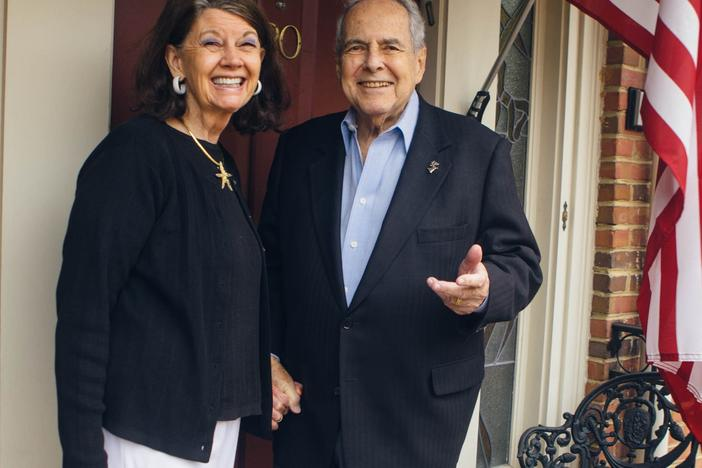 Former Atlanta Mayor Sam Massell, 92, with his 73-year-old wife Sandra at their Buckhead home.