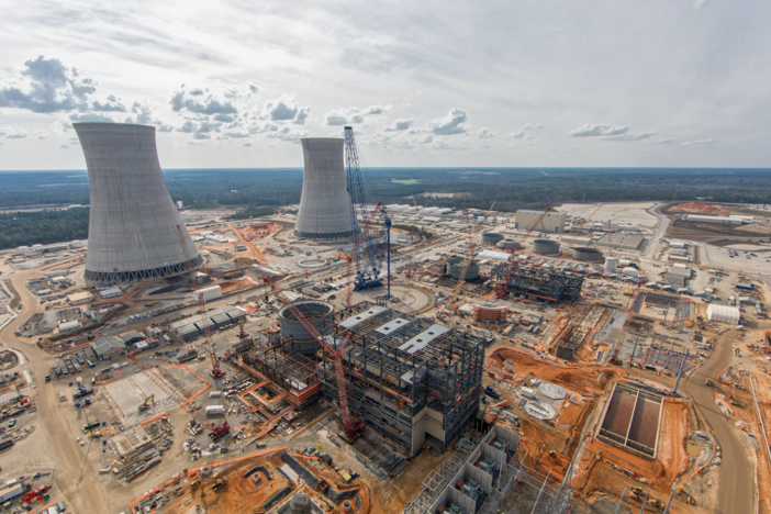 Construction of the two new nuclear reactors at Plant Vogtle in Waynesboro, Georgia.