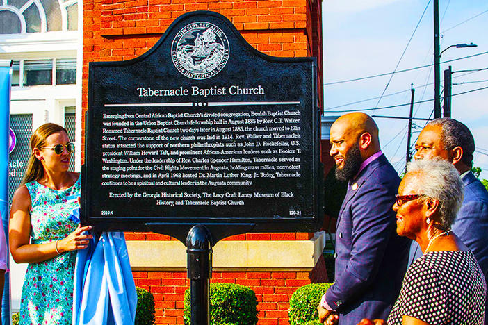 Historical Marker At Augusta's Tabernacle Baptist Church Unveiled