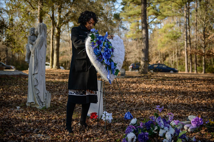 Claudia Lacy at her son Lennon's Grave from the film 'Always in Season.' The film screens on Tuesday, Feb. 11 at 6 p.m at GPB in Atlanta.
